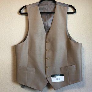 New with tags Lauren Ralph Lauren taupe vest large